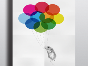Mouse and Balloons - A4 Series